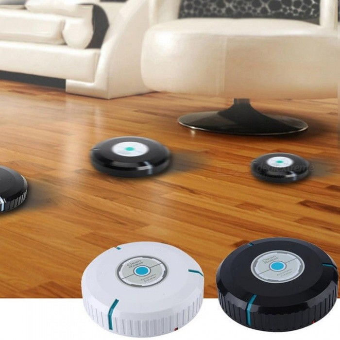Smart Vacuum Cleaner 9 inch Touchless Intelligent Automatic Sweeping Mini Robots Clean Home assistant Gift for Wife Black