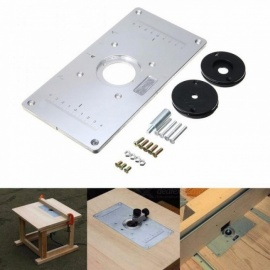 Aluminum Metal Router Table Insert Plate With 4pcs Insert Rings For DIY Woodworking Tools High Quality