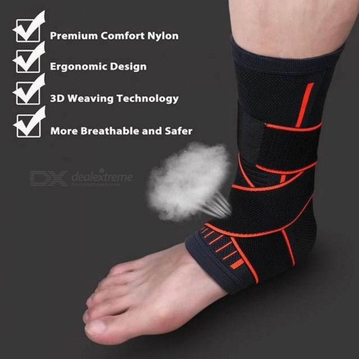 Sports Ankle Protective Sleeve Brace Compression Support Sleeves Plantar Fasciitis Foot Socks Ankle Supports Black