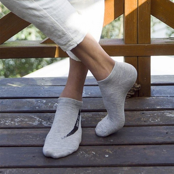 10 Pairs Men Combed Cotton Socks Brand Men Funny Fashion Low Cut Ankle Socks High Quality Summer Socks One Size/1