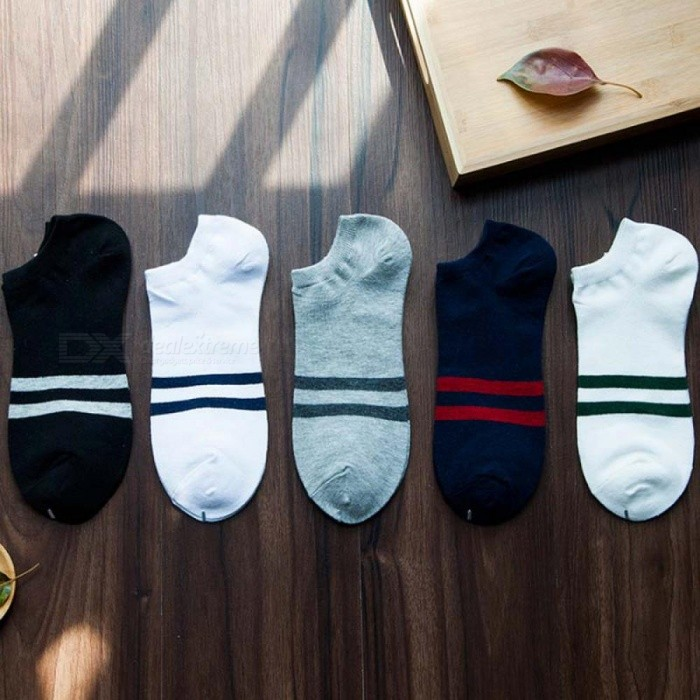 Buy 5 Pairs Classic Cotton Boat Ankle Men Socks Colorful Pattern Casual Summer Invisible Male Socks Set Calcetines Hombre Boat 3 with Litecoins with Free Shipping on Gipsybee.com