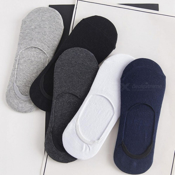 Buy 5pairs Men Socks Slippers Bamboo Fibre Non-slip Silicone Invisible Boat Compression Socks Summer Male Ankle Socks mixed color with Litecoins with Free Shipping on Gipsybee.com