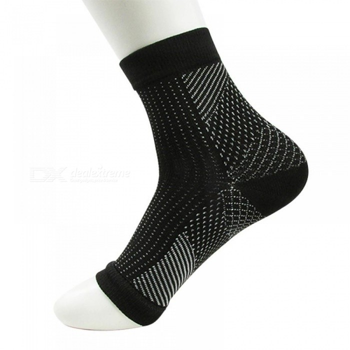 Buy Foot Anti Fatigue women Compression socks Sleeve Elastic Men's Socks Women Relieve Swell Ankle sokken   XXL/black with Litecoins with Free Shipping on Gipsybee.com