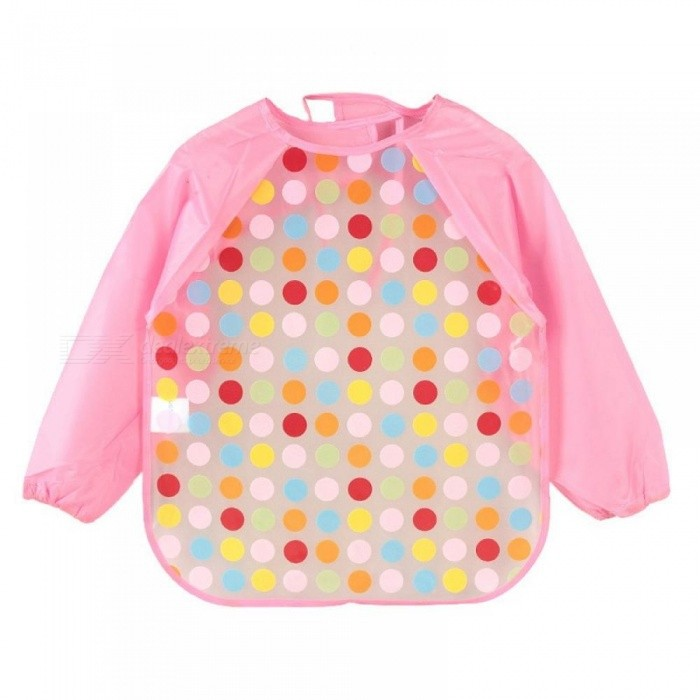 Cartoon Baby Bibs Colorful Long Sleeve Apron Waterproof Toddler Feeding Bibs Burp Cloths Children Painting Clothes One Size