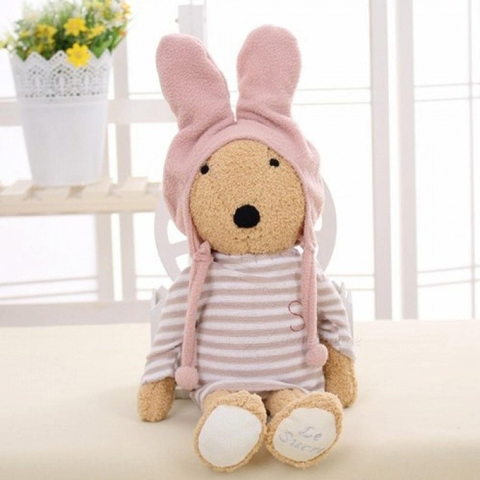 30cm-Kawaii-Rabbit-Wear-Ones-Hat-Bunny-Plush-Kids-Toys-Stuffed-Dolls-Gifts-Clothes-Can-Be-Took-Off-white30cm