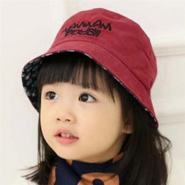 Cotton Baby Summer Hat Kids Letter Cap Sun Bucket Hats Double Sided Caps  Flat Bucket Hat 718f36439d5a