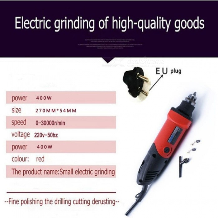 Fantastisk 400W Mini Drill Engraver Rotary Tools Electric Mini Angle Grinder AE-08