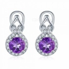 Stone-Jewelry-Clip-Earrings-Natural-Gemstone-African-Amethyst-Solid-925-Sterling-Silver-Fine-Jewelry-for-Womens-Gift