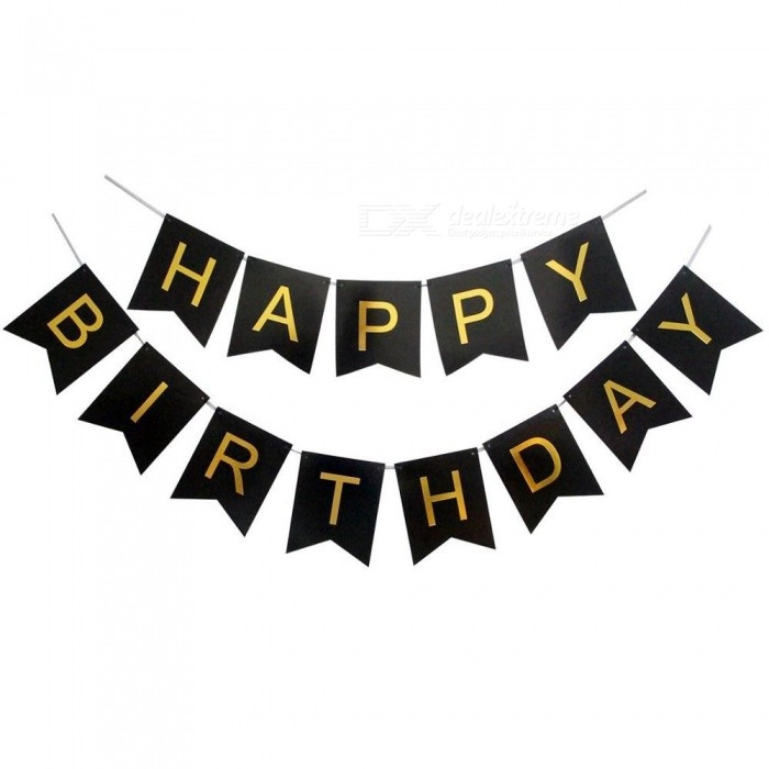 30 40 50 60 70 Happy Birthday Party Decorations Adult Customized Birthday Party Supplies Gold Black Anniversary Decor balloon and banner