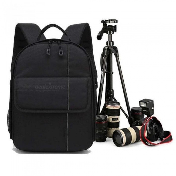Waterproof-Digital-DSLR-Photo-Padded-Backpack-Rain-Cover-Bag-Case-WT-3110A-Photo-Camera-Tripod-Stand-w-Phone-Clip