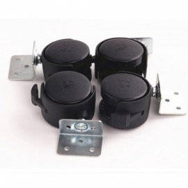 4pcs-Set-Black-Plastic-40mm-Replacement-Angle-Brake-Swivel-Casters-Office-Chair-Wheels-Furniture-Hardware-Rolling-Roller-Caster-PVC-Fixed-Caster-Wheel
