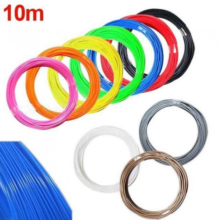 10M 1.75mm 3D Printer ABS Filament Modeling Stereoscopic for 3D Drawing Printer Pen Plastic Rubber Magic Print Yellow