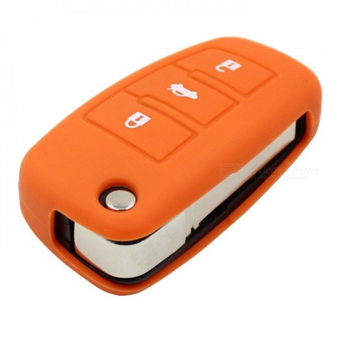 3 Button Silicon Key Folding Cover Fob Shell Holder for Smart Audi A3 A4 A6 A8 TT, Car Key Bag Case