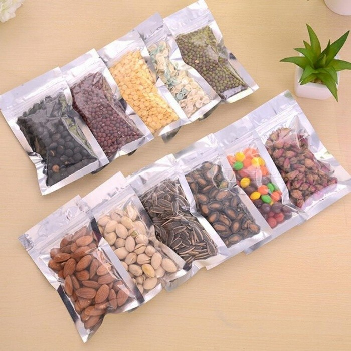 50pcs-Clear-Plastic-Bag-Ziplock-Smell-Proof-Bag-Food-Wrap-Food-Pouch-Food-Packaging-Bags-Vegetable-Freezer-Bag-Reusable-50pcs-Bags