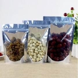 100pcs-Stand-Up-Clear-Aluminium-Foil-Zip-Lock-Bag-Silvery-Metallic-Plastic-Packaging-Pouch-for-Food-Tea-Candy-Cookie-Baking