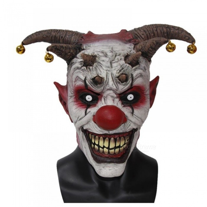 Buy The Clown Horror Latex Halloween Scary Head Mask Full Face Party Masks Villain Joke Mask Christmas Cosplay Clown Mask with Litecoins with Free Shipping on Gipsybee.com