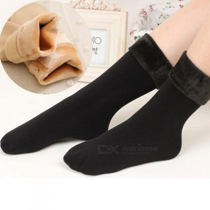 Wool Cashmere Socks Women Thicken Thermal Soft Casual Solid Winter Socks Fashion Cute and Funny Socks A