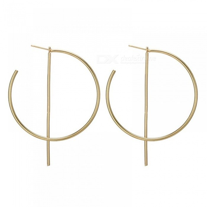Fashion Hip Hop Round Hoop Earrings For Las Metal Wedding Party Jewelry Women Circle