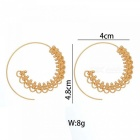 Steampunk Round Swirl Hoop Earring for Women Gold Silver Tone Big Circle Earrings Party Accessories Ethnic Jewelry F