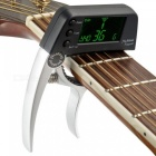 Acoustic-Guitar-Capo-Quick-Change-Key-Guitar-Capo-Tuner-for-Electric-Guitar-Parts-Bass-Ukulele-Chromatic-Alloy-Black