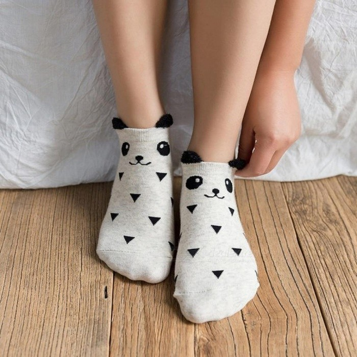 Buy 3 Pairs Cute Socks Women Summer Panda Cotton Short Funny Socks Happy Ankle Socks Female Fashion Stripe Sox Meias Calcetines 3 Pairs Cute Socks with Litecoins with Free Shipping on Gipsybee.com