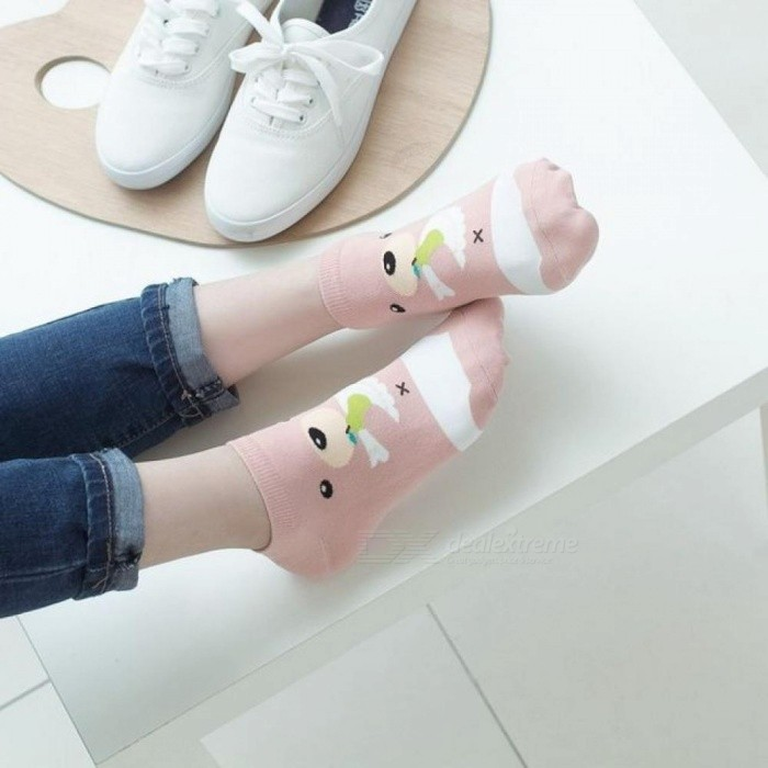 Buy Female Cartoon Tube Socks Cotton Korea Autumn and Winter Cotton Socks Jacquard Japanese Socks Brand Socks XL/5T colour mix with Litecoins with Free Shipping on Gipsybee.com
