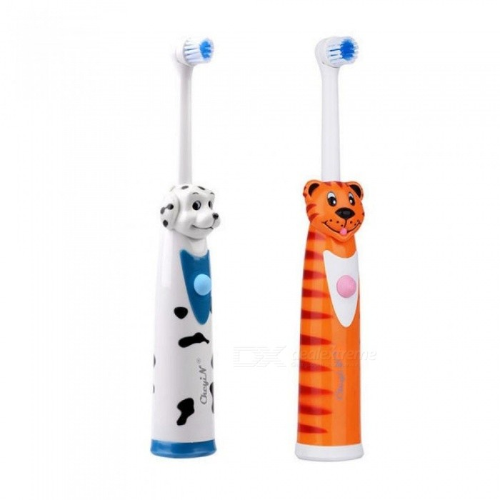 Buy 2pcs Battery Operated Electric Toothbrush+4 Brush Heads Sonic Revolving Tooth Brush Automatic Rotary Kids Toothbrushes 2 Pcs with Litecoins with Free Shipping on Gipsybee.com