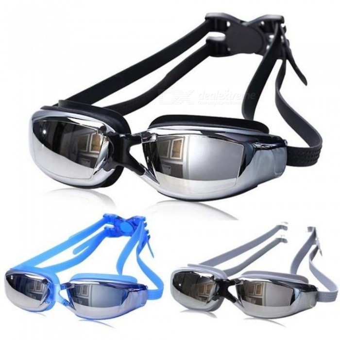 Buy Professional Swimming Goggles Men Women Anti-fog UV Protection Swimming Goggles Waterproof Silicone Swim Glasses Adult Eyewear Light Grey with Litecoins with Free Shipping on Gipsybee.com