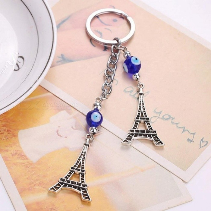 Valentine's Day New Trendy Evil Eye Keychains Cute Animal Crystal Butterfly Keychain Keyring Car Accessories