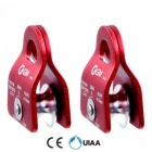 GM-Climbing-Rope-Pulley-Climbing-Mountaineering-Equipment-CE-UIAA-20kN-Fix-12-inch-Rope-Survival-Caving-Rescue-Rock-Climbing-2pcs-red-color