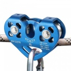Outdoor-Rock-Ice-Climbing-Equipment-30KN-Workload-30KN-Breaking-Load-Rescue-Cable-Trolley-Aluminum-Alloy-Speed-Pulley-Blue