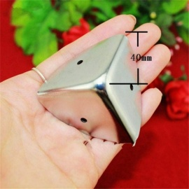 40mm-Aluminum-Box-Cosmetics-Cases-Suitcase-Angle-Iron-Purses-Chrome-Silver-Protection-Angle-Code-Bags-Corner-Silver