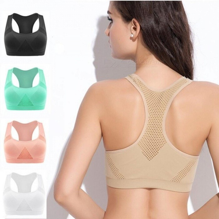 Buy Professional Absorb Sweat Top Athletic Running Sports Bra Gym Fitness Women Seamless Padded Vest Tanks M L XL M/Khaki with Litecoins with Free Shipping on Gipsybee.com