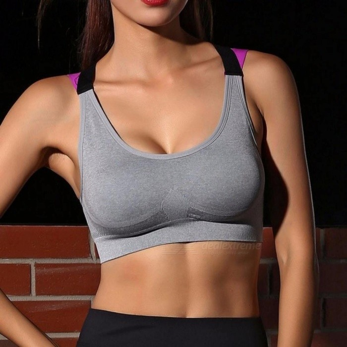 Buy Push Up Women Sports Bra Top for Fitness Yoga Cross Strap Womens Gym Running Padded Tank Athletic Vest Underwear S/Pink with Litecoins with Free Shipping on Gipsybee.com