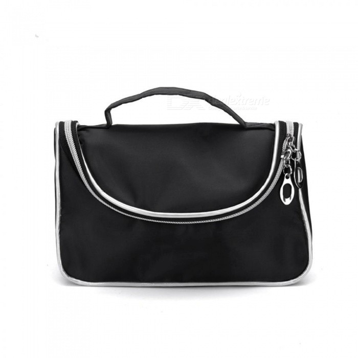 Buy Black Cosmetics Bag Fashion Zipper Multifunction Large Makeup Bags Portable Makeup Organizer Handbags Travel Toiletry Bag Black with Litecoins with Free Shipping on Gipsybee.com
