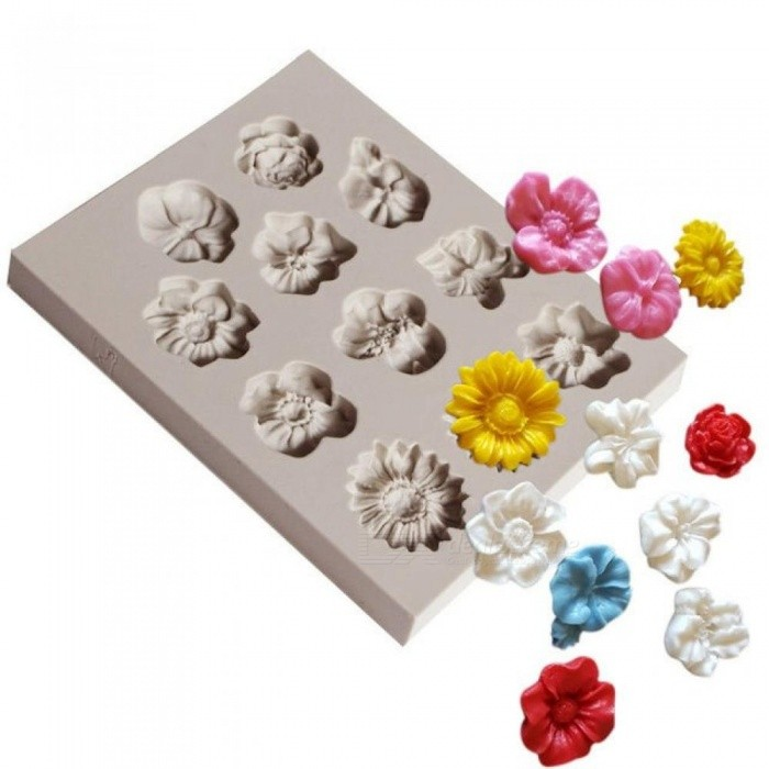 1 Piece Flower Silicone Mould Fondant Mould Cake Decorating Tools Chocolate Gum Paste Mould Eco-Friendly As Pictures