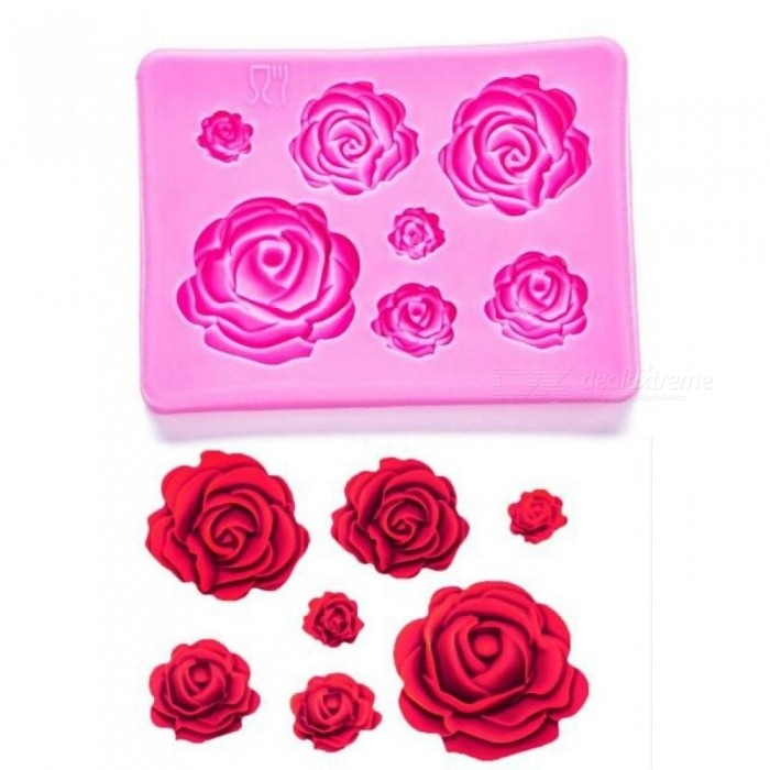 Buy Roses Shaped Fondant Silicone Rubber Moulds for Mastic Confectionery Accessories Chocolate Cake Decoration Tools As Pictures with Litecoins with Free Shipping on Gipsybee.com