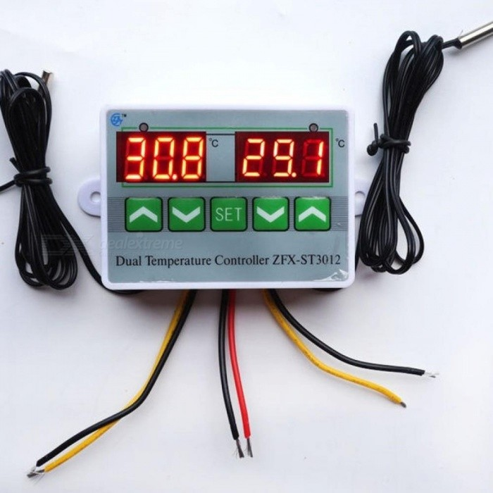 Buy AC 220V 12V 24V Digital LED Dual Thermometer Temperature Controller Thermostat Incubator Control Microcomputer Dual Probe DC24V with Litecoins with Free Shipping on Gipsybee.com