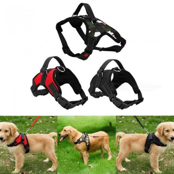 Adjustable Pet Puppy Large Dog Harness for Small Medium Large Dogs Animals Pet Walking Hand Strap Dog Supplies S/As Picture