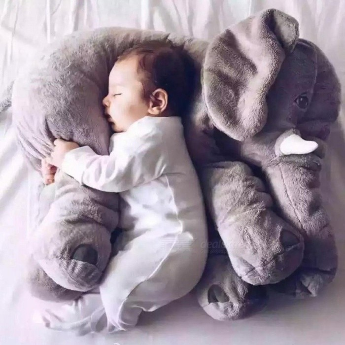 Buy 60cm Large Plush Elephant Toy Kids Sleeping Back Cushion Stuffed Pillow Elephant Doll Baby Doll Birthday Gift for Kids 60cm/purple with Litecoins with Free Shipping on Gipsybee.com