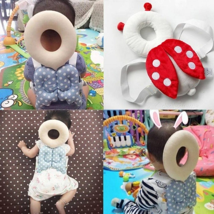 Cute Baby Infant Toddler Newborn Head Back Protector Safety Pad Harness Headgear Cartoon Baby Head Protection Pad