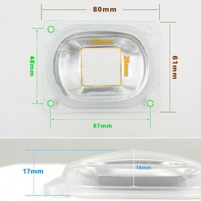 Buy [MingBen] LED Lens For LED COB Lamps Include: PC lens+Reflector+Silicone Ring Lamp Cover shades Sport Light DIY For Floodlight Lens with Litecoins with Free Shipping on Gipsybee.com