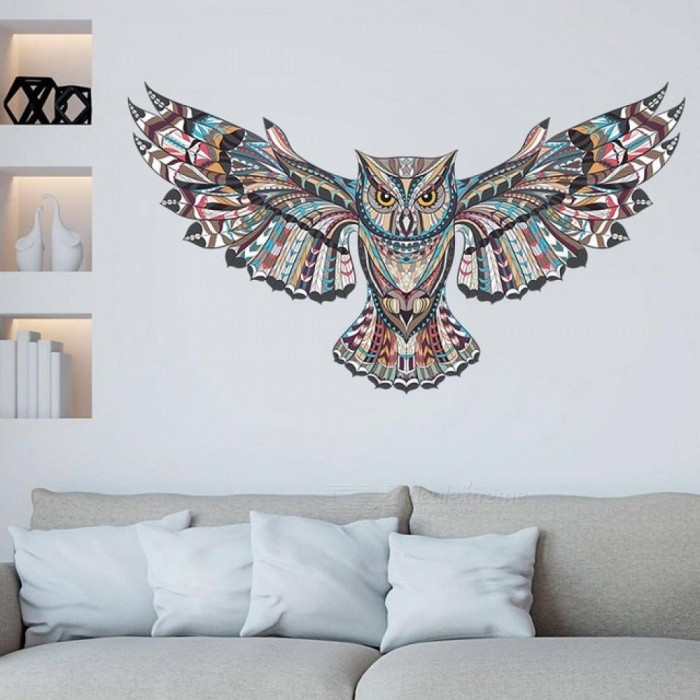 Buy Removable Colorful Owl Kids Nursery Rooms Decorations Wall Decals Birds Flying Animals Vinyl Wall Stickers Self Adhesive Decor multi with Litecoins with Free Shipping on Gipsybee.com