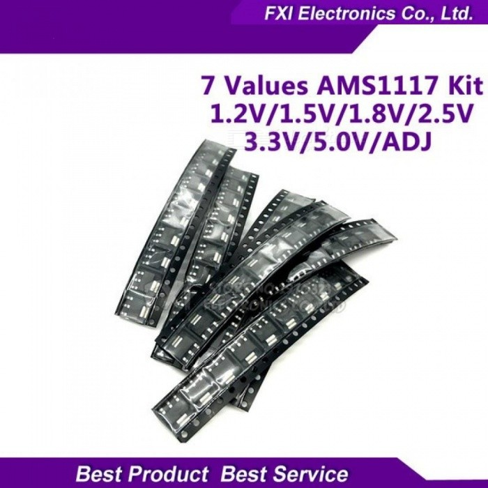 Buy 70pcs AMS1117 Voltage Regulator Kit 1.2V/1.5V/1.8V/2.5V/ 3.3V /5.0V/ADJ AMS1117-3.3V AMS1117-3.3 AMS1117-5.0 7 Values Each 10PCS 70pcs with Litecoins with Free Shipping on Gipsybee.com