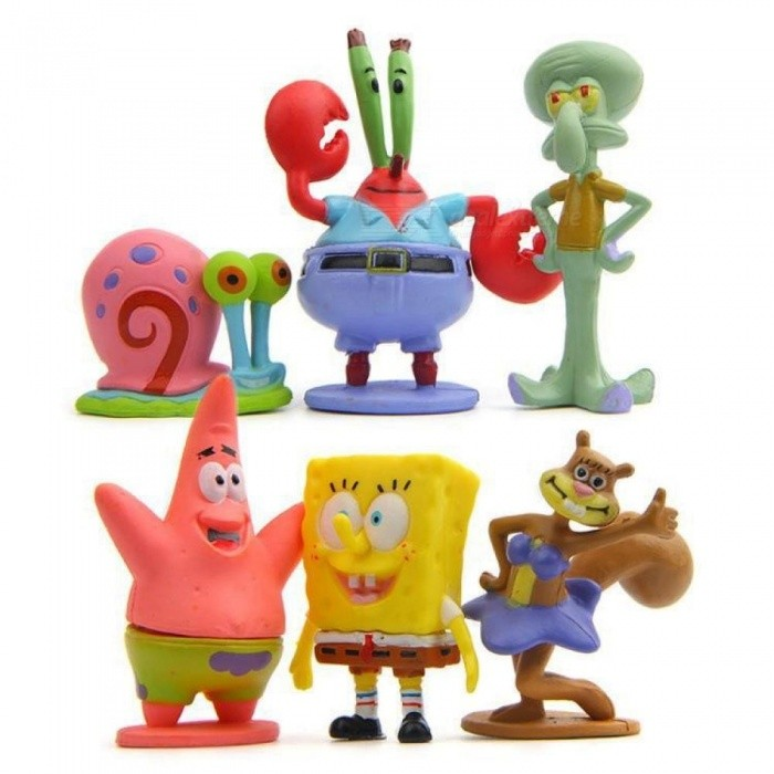Animation Kawaii SpongeBob Patrick Star Model Action Figure Toys Doll Cartoon Sponge Bob Mini Figure Toys Children Gift E for sale in Bitcoin, Litecoin, Ethereum, Bitcoin Cash with the best price and Free Shipping on Gipsybee.com