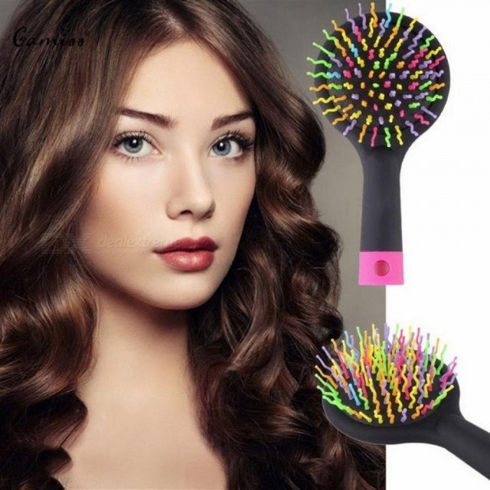 Buy Rainbow Magic Hair Comb Brush Rainbow Volume Styling Tools Anti Tangle Anti-static Head Massager Hairbrush with Mirror pruple with Litecoins with Free Shipping on Gipsybee.com