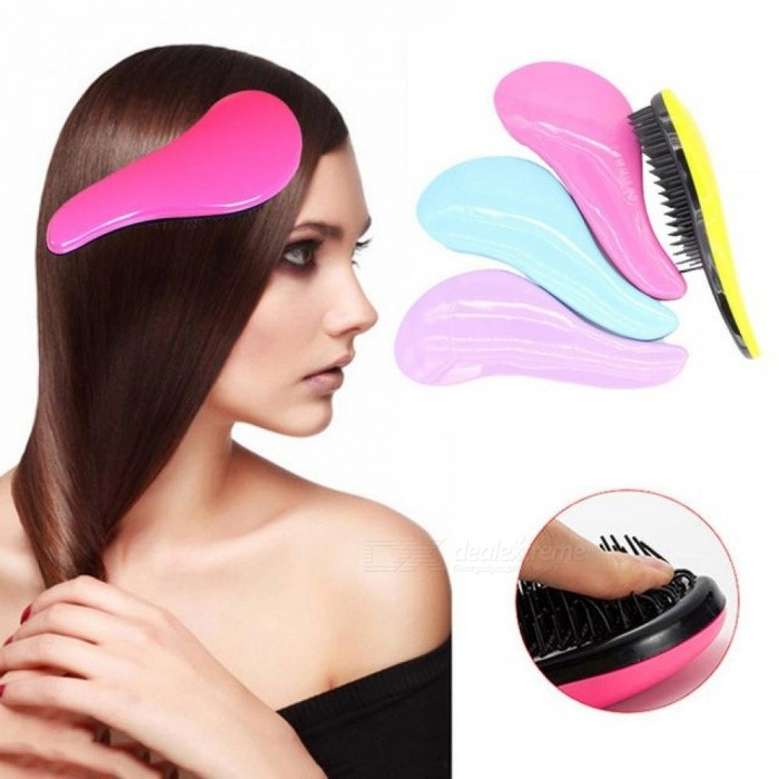 Buy Magic Hair Comb Brush Rainbow Volume Styling Tools Anti Tangle Anti-static Head Massager Hairbrush Hair Shower Salon Tool Black with Litecoins with Free Shipping on Gipsybee.com