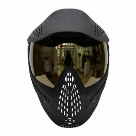 Tactical-Airsoft-Paintball-Mask-Anti-Fog-DYE-I4-Thermal-Lenses-with-Visor-amp-Double-Straps-ABS-Soft-Rubber