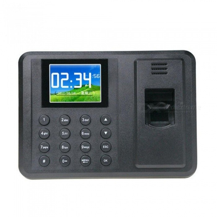 Biometric Fingerprint Access Control Machine Punch USB Time Clock Office Attendance Recorder Timing Employee RFID Reader Black