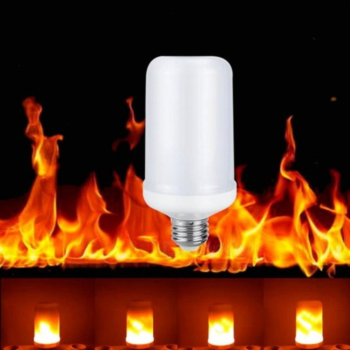 Buy E27 E26 2835 LED Flame Effect Fire Light Bulbs 7W Creative Lights Flickering Emulation Vintage Atmosphere Decorative Lamp E27/7w/E27 with Litecoins with Free Shipping on Gipsybee.com